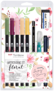 Tombow ABT Dual Brush set Floral -tussisetti