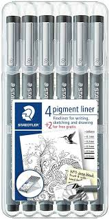 STAEDTLER Pigment Liner 6-setti